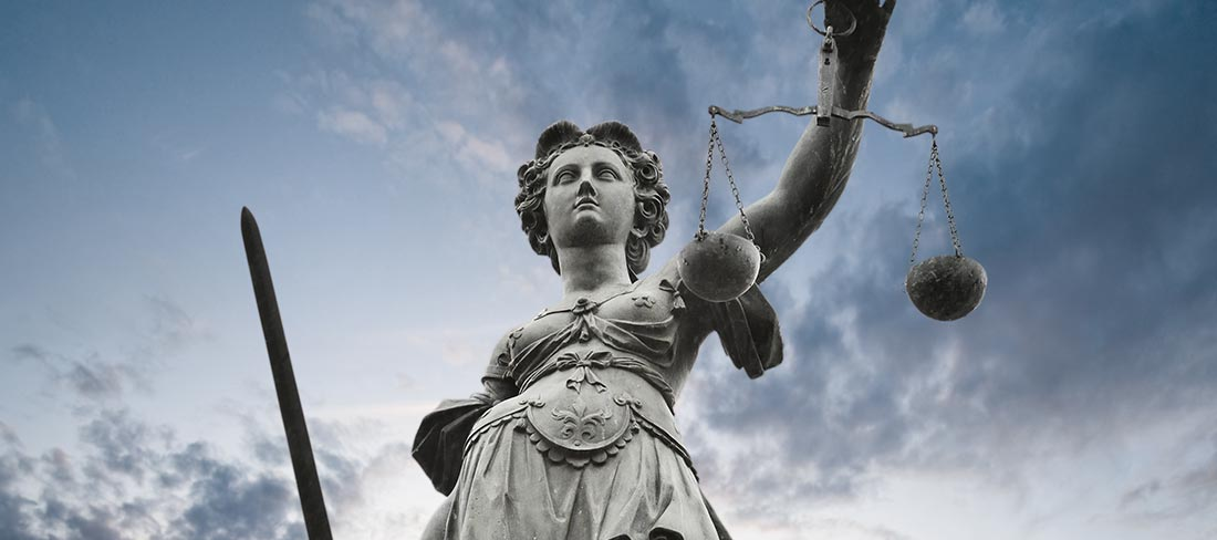 justice, felony, attorney - statue holding a sword and scales
