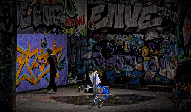 Criminal Damage in Arizona - graffiti on walls