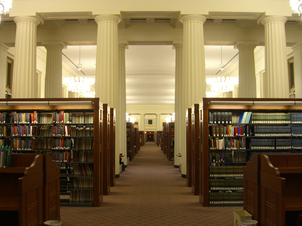 criminal defense specialist - library inside the courthouse