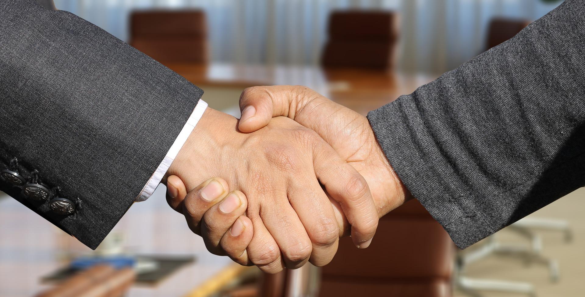 criminal case dismissed - handshake