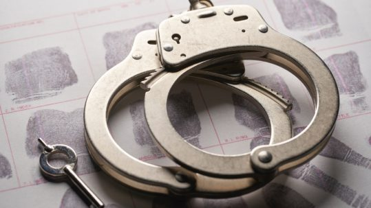 arrested in arizona - handcuffs