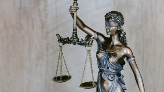right against self-incrimination - justice with scales